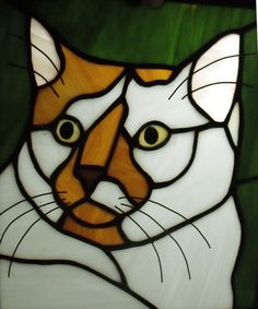 Simon Panel   Stained glass panel of my cat Simon. roughly 8…   Flickr