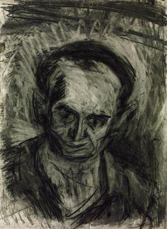 Leon Kossoff 'Self-Portrait. Verso: Untitled (Two Figures)', 1967 © Leon Kossoff