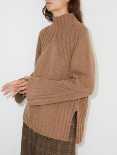 A thick wool-blend knit that will amp up the cosy-factor during the colder months. This sweater features a ribbed knit at the sides, sleeves, and hem, for a homemade yet polished look. Knit Fashion, Polished Look, Models, Cardigans For Women, Crochet, Wool Blend, Knitwear, One Piece, Street Style