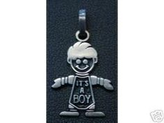 Charm Baby Pendant its a boy Silver gifts Jewelry Love Sterling Silver 925 Jewelry