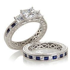 Xavier Absolute™ Princess-Cut 2pc Ring Set
