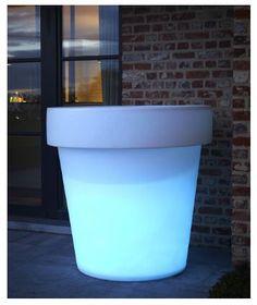 pot de fleur rectangle lumineux 30 x 40 x 80 cm pots. Black Bedroom Furniture Sets. Home Design Ideas