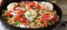 Macarrão salteado com camarão e legumes na wok | O que há para comer ?