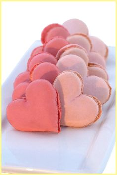 Heart Shaped Macarons - even though mon cheri's french, he's not a big fan of macaroons