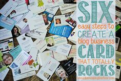 i should be mopping the floor: Six Easy Steps to Create a Blog #BusinessCard that Totally Rocks