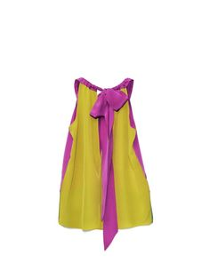 Personally I think I'd look ridiculous in this share of yellow but I like the combination of bright colours!