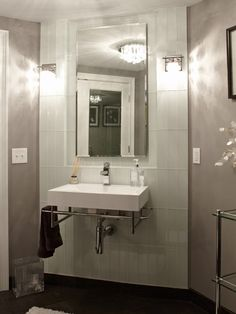 Modern Bathroom Small Vanity Wall Mount Design, Pictures, Remodel, Decor and Ideas - page 5