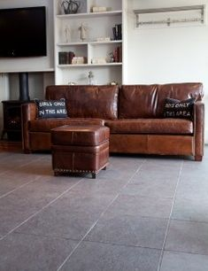 Vintage Leather Greenwich - 3 Seater Sofa