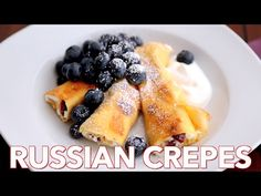 These Russian Crepes with cheese are our favorite breakfast and they can be prepared ahead of time; making it the ideal breakfast dish for company. Breakfast Items, Breakfast Dishes, Breakfast Recipes, Ukrainian Recipes, Russian Recipes, Russian Breakfast, Cheese Blintzes, Cookies, Desserts