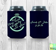 And They Lived Happily Ever After/ Wedding Beer by MintandLemon fall wedding boquets / fall wedding boquette / fall wedding koozie / fall wedding flowers / fall wedding pallettes Fall Wedding Boquets, Boquette Wedding, Wedding Koozies, Fall Wedding Flowers, Sarah H, Happily Ever After, Drink Sleeves, Party Favors, Cool Designs