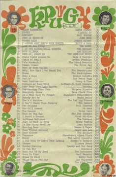Top 40 survey KPUG Bellingham, WA 1968