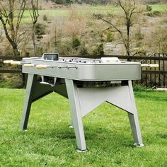 RS2 Stainless Steel Outdoor Table Football Barcelona, Outdoor Tables, Indoor Outdoor, Outdoor Decor, Luxury Gifts For Men, Table Football, Villa, Glass Holders, Table Games