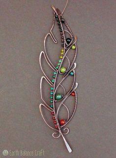 Copper Wire Art, Copper Jewelry, Beaded Jewelry, Copper Wire Crafts, Jewlery, Wire Jewellery, Jewellery Shops, Leather Jewelry, Glass Jewelry