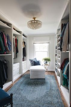 2019 New Year Home Tour - Would this layout save a little room in our closet? - Edna King - 2019 New Year Home Tour – Would this layout save a little room in our closet? Master Closet Design, Walk In Closet Design, Master Bedroom Closet, Closet Designs, Dressing Room Design, Dressing Rooms, Closet Layout, Custom Closets, Home Interior Design