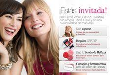 ¡Estás invitada!Gana productos GRATIS. Diviértete con amigas. Mima tu piel y prueba nuevos estilos de maquillaje.