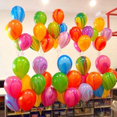 5 Super Agate Rainbow Helium QLTY Party Balloons/Party Supplies, Decorations…
