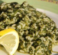 Spinach Casserole with Rice (Spanakorizo)