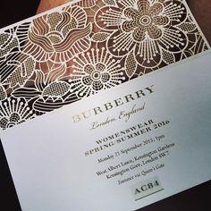 Fashion Show Invitation Template Luxury Burberry Ss 2016 Fashion Show Invitations Carton Invitation, Invitation Cards, Wedding Invitations, Invitation Ideas, Wedding Stationary, Fashion Show Invitation, Look Retro, Invitation Design, Business Cards