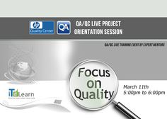 """We at #ITeLearn, strongly encourage you to attend FREE ONE HOUR #WEBINAR on """"QA/QC Live Project Orientation Session"""", scheduled on March 11th 2015 @ 5.00PM to 6.00 PM. Participate in this informative session and know how the practical experience on #QA #QC will build your confidence in reaching your goal . Don't Delay! Register to save your spot! http://www.itelearn.com/events/qaqc-live-project/"""