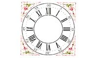 "Winterthur  22"" Cross Hall Clock Face Wall Stencil"