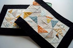 Boho Quilted Patchwork Table Runner or Wall by MyBitOfWonder