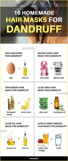 16 Homemade Hair Masks for Dandruff Instead of trying the anti dandruff shampoo's you can treat them effectively by making homemade mask. Here are effective homemade hair masks for dandruff Diy Hair Treatment, Hair Treatment Homemade, Hair Dandruff, Dandruff Remedy, Diy Hair Mask For Dandruff, Diy Shampoo, Biotin Shampoo, Diy Masque, Beauty Hacks