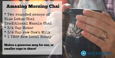 Start the morning with a cup of Chai tea with milk and honey! | Homestead Honey