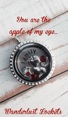 Red and blue family inspired locket, perfect for moms with boys... www.wanderlustlockets.co.za