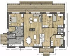 Bungalow House Plans, Future House, Tiny House, Sweet Home, Floor Plans, Flooring, How To Plan, Places, Sims 4