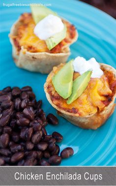Chicken Enchilada Cups-I think they are very cute and super kid friendly (and freezer friendly).