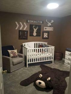 30 Adorable Rustic Nursery Room Ideas - Name Baby Boy - Ideas of Name Baby Boy - Baby Bedroom, Baby Boy Rooms, Baby Boy Nurseries, Nursery Room, Kids Bedroom, Rustic Baby Nurseries, Baby Nursery Ideas For Boy, Camo Nursery, Hunting Nursery