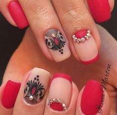 Accurate nails, Drawings on nails, Evening dress nails, Half-moon nails ideas…
