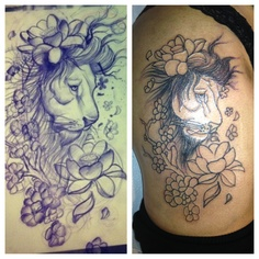 Lions and Flowers! Not done yet!