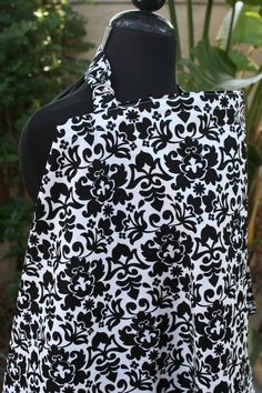 Nursing Cover  Black and Cream Damask  Over 40 by Essiedesigns, $18.99