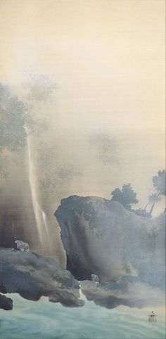 Yokoyama Taikan (1868 - 1958) (Japanese) 	 日本語: 曳船 English: Towing a Boat, 1901, Adachi Museum of Art