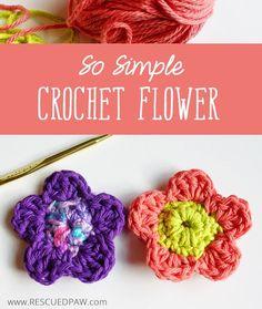 So Simple Crochet Flower Pattern.
