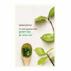 Inninsfree - It's real squeeze Mask Sheet green tea @ Sheet Happens