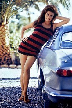 Raquel Welch and Volvo P1800 circa 1970...