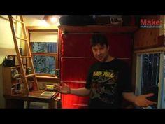 ▶ Garage Door Murphy Bed- Tiny Yellow House - YouTube
