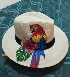 From my hat collection – dilek hanife – Join the world of pin Painted Hats, Painted Canvas Shoes, Painted Clothes, Hand Painted, Diy Arts And Crafts, Hobbies And Crafts, Hat Decoration, Western Chic, Diy Hat