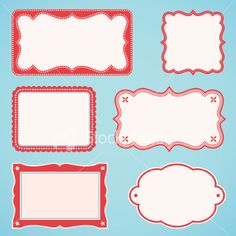 Six different book plates, frames Stock vectorFile #: 4617020