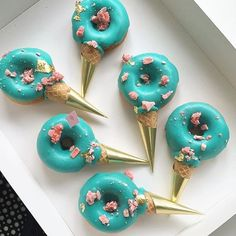 National Doughnut Day  Admittedly my most favourite dessert to eat  Loving these pretty blues @nectarandstone  #petitedessert #doughnuts #dessert #sweets #art #amazing #happydays #nationaldoughnutday