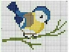 Terrific Pics Cross Stitch bird Tips Blue bird cross stitch Tiny Cross Stitch, Cross Stitch Bookmarks, Cross Stitch Cards, Cross Stitch Alphabet, Cross Stitch Animals, Cross Stitch Flowers, Cross Stitching, Cross Stitch Embroidery, Bird Embroidery
