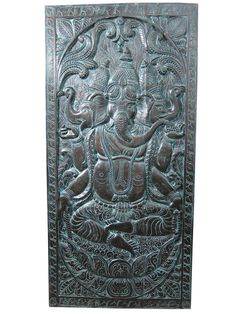 Indian Inspired Decorative Ganesha Hand Carved by MOGULGALLERY