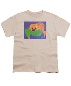 Patrick Francis Designer Youth Cream T-Shirt featuring the painting Otter 2014 by Patrick Francis