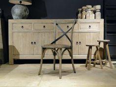 Vintage stoel en andere leren eetkamerstoelen vindt u bij ons. - ROBUUSTE TAFELS! Direct uit voorraad of geheel op maat >>