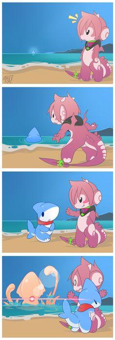 RU dragon and shark puppy Cute Animal Drawings, Kawaii Drawings, Anime Animals, Cute Animals, Pet Shark, In The Zoo, Cute Dragons, Amazing Drawings, Cute Comics