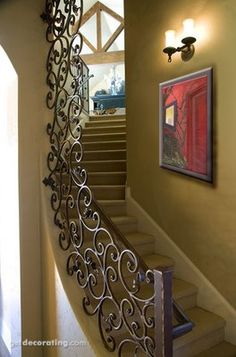 44 ideas for wrought iron stairs railing banisters Banisters, Stair Railing, Railings, Railing Design, Railing Ideas, Iron Staircase, Curved Staircase, Staircase Design, Casa Magnolia