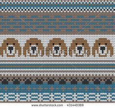 knitted varicolored seamless pattern dogs