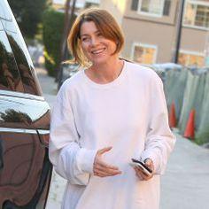 Ellen Pompeo fait du shopping dans un magasin de vêtements pour enfants à West Hollywood, le 25 février 2015